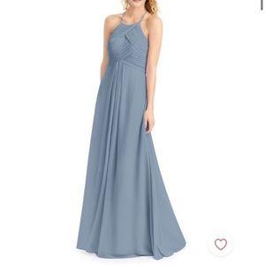 Azazie Ginger Dust Blue Bridesmaid Dress